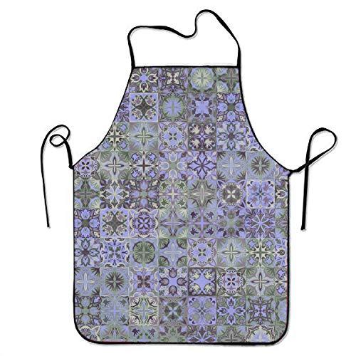QUEMIN Delantal púrpura intrincado Vintage Impermeable Creativo para niños Mujeres Hombres Delantal Cocina ladrando barbero Camarera Delantal