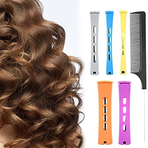 MEEQIAO 100 Pezzi Bigodini per permanente, 5 taglie, adatto per capelli lunghi e corti, per Strumenti di Styling da Parrucchieri (100PCS)