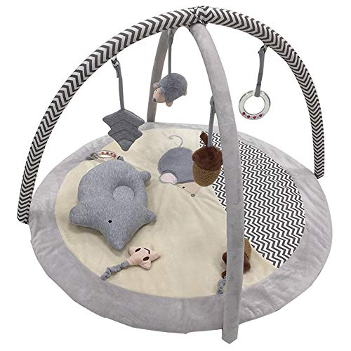 GFQTTY Aktivitäts-Fitnessstudio Für Neugeborene, Frühpädagogische Spielmatte Superweiches Stoff-Lernteppichspielzeug, 35,4 X 35,4 X 17,7 Zoll