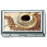 ハードボックスフルパックシガレットケース、コーヒードリンクとコーヒー豆シガレットケース/ボックス、クレジットカードケース用女性男性