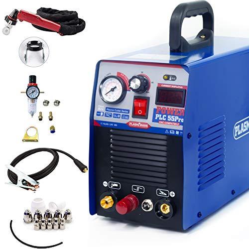 プラズマカッター プラズマ切断機 PLC55-Pro 100/200V兼用 アップグレードパネル 家庭用 DIY 初心者向き (100/200V)