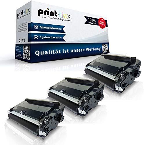 3x Kompatible Tonerkartuschen für Brother MFC-L5700 DN MFC-L5700 DNLT MFC-L5700 DW MFC-L5700 Series MFC-L5750 DW MFC-L6800 DW TN3480 TN-3480 TN 3480 Schwarz Black- Color Line Serie