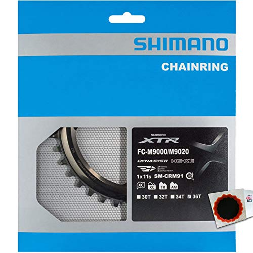 SHIMANO Kettenblätter XTR FC-M9000/M9020 1f. 36Z. 96mm Edelstahl/Alu/Carbon.