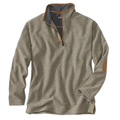 Orvis Simoom Tweed Quarter-Zip Sweatshirt, Olive, XL