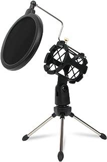 Soporte de micr/ófono de escritorio soporte de MicSuspension con soporte antivibraci/ón y m/áscara de filtro antigolpes para grabaciones vocales de estudio Podcasts en l/ínea Chat reuniones conferencias
