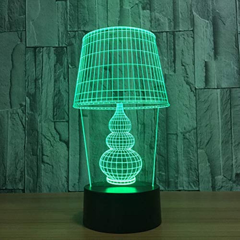 Laofan 7 Farben ndern 3D nachtlicht schreibtischlampe modellierung led Baby Schlaf Beleuchtung Geschenke wohnkultur Schlafzimmer nachttischlampe,Berührungsschalter