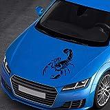 SZSS-CAR Pegatinas para cubierta de capó de coche, 2 unidades, diseño de totem de escorpión
