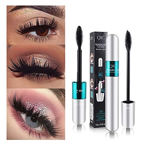 Dinglong 3D Fiber Mascara Long Black Lash Extension de Cils Outil de Extension de Maquillage pour les Yeux Imperméable