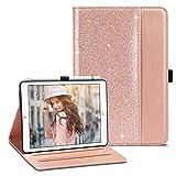ULAK iPad Mini 2 Case, iPad Mini Case, iPad Mini 3 Case, iPad Mini Retina Case, Premium PU Leather Multi-Angle Viewing Folio Smart Stand Cover for iPad Mini 1/2/3, Auto Wake/Sleep (Rose Gold)