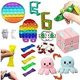 Sensory Fidget Toys Set, 17Pcs Set Stress Reliever Angst Linderung Sensory Fidget Toys Set...