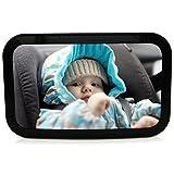 Mias Specchietto retrovisore auto per bambini, Specchietto per sedile posteriore, Specchio per vedere sempre il vostro bambino senza sconcetrarsi dalla guida