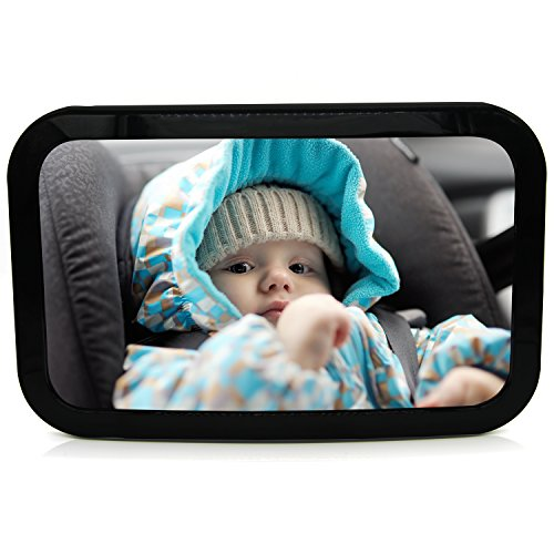 Mias Rücksitzspiegel für Babys aus Acryl, Befestigung an Kopfstütze – Baby-Spiegel Auto, Rück-Spiegel für Reboarder Kinder-Sitz Sitz-Schale