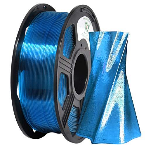 PETG Filament 1,75 mm, YOYI 3D Druckerfilament Filament PETG 1 kg,Dimensionale Genauigkeit +/- 0.02 (Blaugrün)