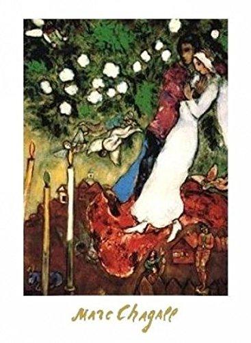 1art1 Marc Chagall - Die DREI Kerzen Poster Kunstdruck 70 x 50 cm
