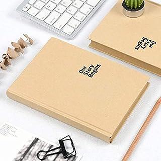 لوازم المكتب المدرسية الكلاسيكية 575360974670 مجموعة ورق كرافت النقي غلاف صلب مفكرة A5 الصفحة الداخلية فارغة بسيطة دفتر