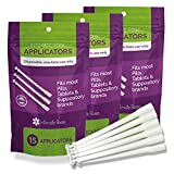 45 Count Vaginal Suppository Applicators, Individually Wrapped, Disposable Applicator - Fits Most Boric Acid Suppositories and More, from Intimate Rose, Pack of 45