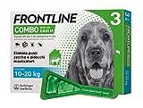 Frontline | Combo Spot On Cani | Protezione da pulci, zecche, uova e larve di pulci | 3 Pipette | Cane M (10 - 20 Kg)