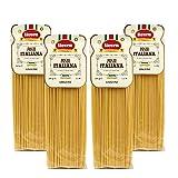 Livera Linguine 4 X 500 Gr, Pasta Largas de Sémola de Trigo Duro 100% Made in Italy, Linguine Elaborada en Bronce, Excelencia Italiana, Pasta Artesanal italiana Seca, Cocina 12'