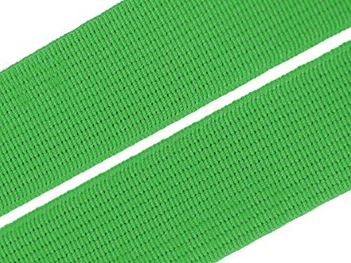 Gummiband 20 mm Gummizug Gummilitze Gummi Hosengummi gewebt viele Farben (20 Millimeter, 06 grün)
