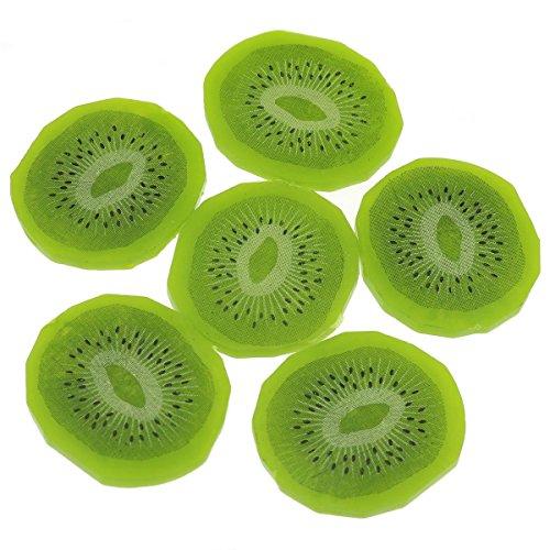 Gresorth 6Premium Simulation Fruit Künstliche Kiwi Slice Fake grün Fruits Home Party Dekoration