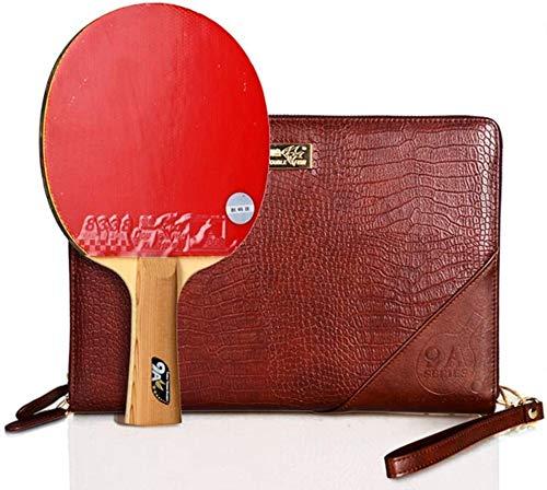 REWD Sets de Ping Pong Tabla de Tenis Profesional Palo con la Caja 9 Estrellas Paleta de Ping Pong for el hogar Juego en Interiores o Exteriores y Avanzado/como se Muestra/Mango Corto