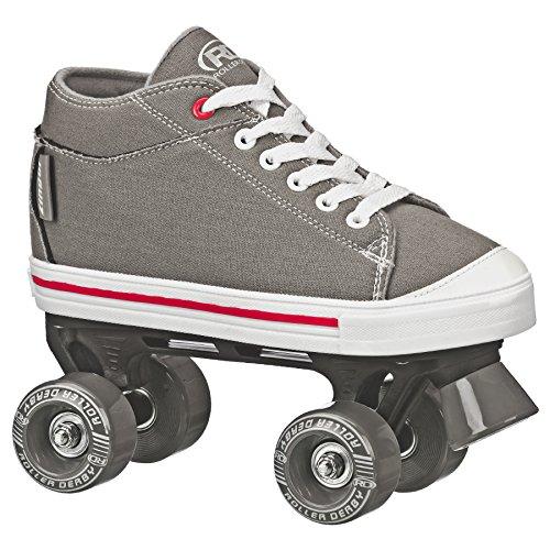 Patins Quad Roller Derby Zinger Boy Infantil, Cinza, 33