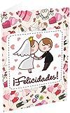 Grupo Erik Editores TF00211 - Tarjeta de felicitación, 11 x 16 cm, diseño ¡Felicidades! Recién Casados-Pareja
