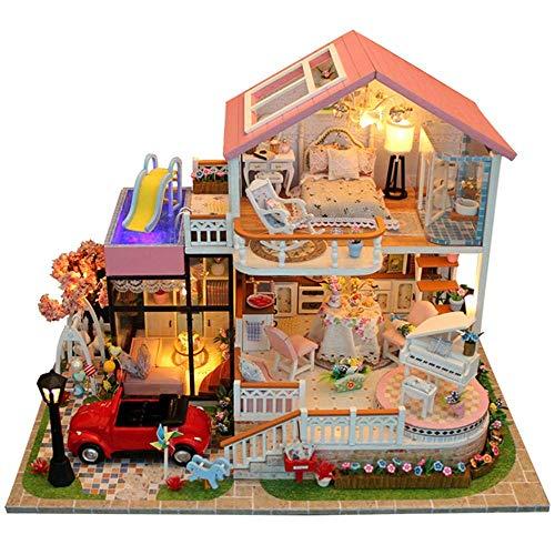 Piezas mecánicas Kit de casa de bricolaje en miniatura Muebles de casa...