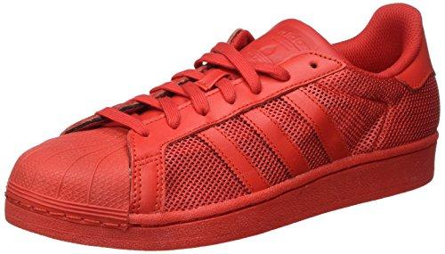 adidas Herren Superstar Sneakers, Rot (Collegiate Red/Collegiate Red/Collegiate Red), 44 EU