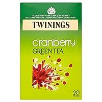 Twinings Green Tea Cranberry Flavour Tea Bags (20 per pack) トワイニング緑茶クランベリーフレーバーティーバッグ(パックあたり20 )