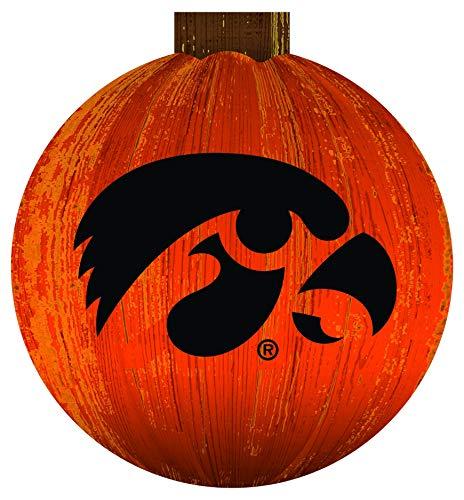 Fan Creations NCAA Iowa Hawkeyes Unisex Iowa 12 in. Halloween Pumpkin Sign, Team Color, 12 inch
