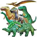 Jet Creations Dinosaur Collection Trex Brachiosaurus Triceratops Raptor and other Dinosaurs 7 piece, Size 37+ inch, JC-DINO7, multi