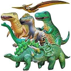6. Jet Creations Jumbo Inflatable Dinosaur Collection (7pcs)