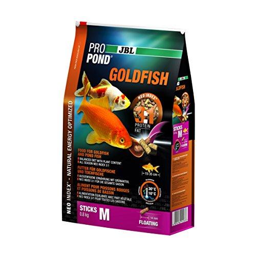 JBL Futter für Gold- und Teichfische, Schwimmende Futtersticks, Spezialfutter, ProPond Goldfish, Größe M, 0,8 kg