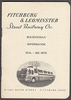 Fitchburg & Leominster Street Railway Bus Schedule 30c single fare