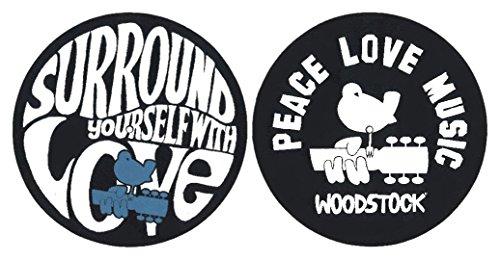 Slipmat Woodstock - Peace Love Music - Surround Yourself With Love - 2 Slipmats