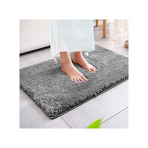 Magicfun Tappeto da bagno, tappeto da bagno assorbente antiscivolo, soffice tappeto in microfibra, tappeti doccia in ciniglia morbida assorbente d acqua, lavabile in lavatrice (50 x 80 x 3 cm, grigio)
