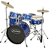 Pulse 5-Piece Junior Drum Set Metallic Blue