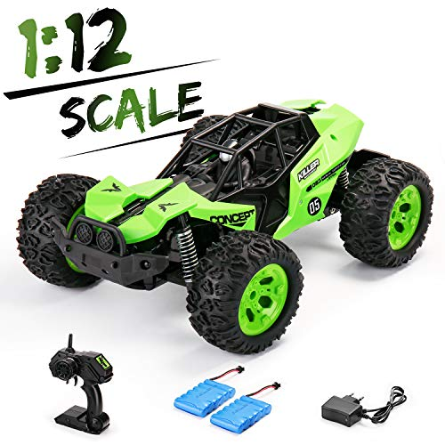 SainSmart Jr. Off Road RC Car 1:12 Large Size Remote Control Truck with Two Rechargeable Batteries 25KM/H High Speed 2.4Ghz Monster Vehicle for Kids