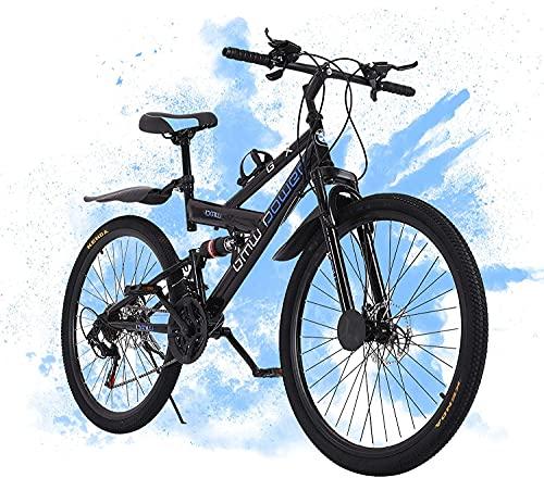 26in Outdoor Road Bikes Folding Mountain Bike Dual...