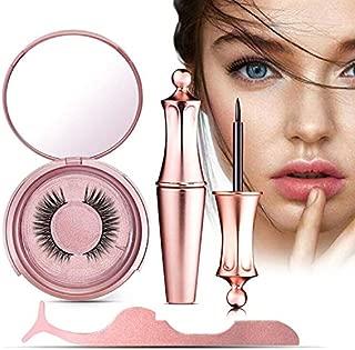 Magnetic Eyeliner and Lashes, Magnetic Eyeliner, Magnetic Eyelashes, Waterproof Magnetic Eyelashes With Eyeliner, Eyelashes With Natural Look - Best 3D Reusable Eyelashes with Tweezers