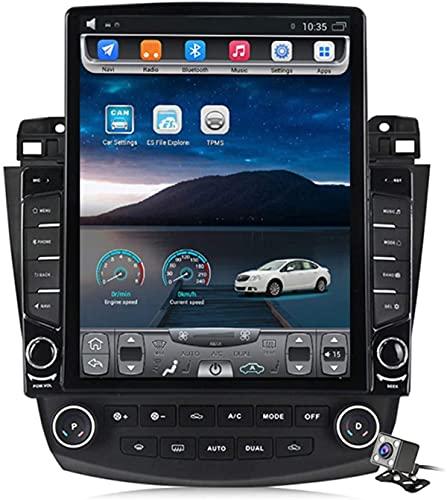 Pantalla Vertical de 9,7 Pulgadas Android 8.1 MP5 Player GPS Navegación para Honda Accord 7 2003-2007, Soporte DSP/FM Radio de Coche estéreo/BT Hands-Free Calls/Control del Volante