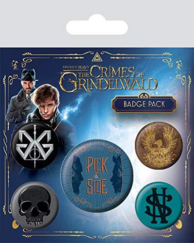 Harry Potter Pack 5 Spille Pins Animali Fantastici, Multi-Colour, unica