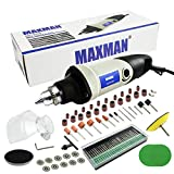 MAXMAN Rotary Tool Kit Variable Speed Multi-functional Electric Drill Grinder for Crafting Projects