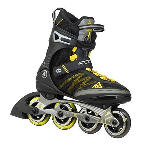 K2 Skates Herren F.I.T. X PRO M Inline Skates, Schwarz/Gelb, 44.5 EU