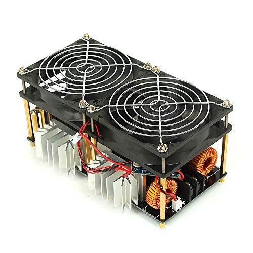 YJIA Induction Heating Module - Calefactor de Alta frecuencia (Bobina de Metal Fundido, con Fuente de alimentación ZVS 1800 W, 48 V, 50 A, Herramientas de procesamiento de Madera)