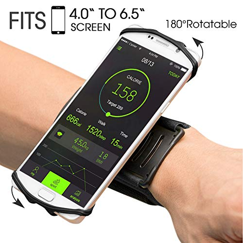 VUP Wristband Phone Holder, 360° Rotatable Forearm Armband for iPhone...