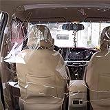 WXYLYF Película De Aislamiento para Automóviles Al Aire Libre Taxi Driver Transparente Antipolvo PVC Material (1.2Mx1.4 M) Fila Delantera Y Trasera Plástico
