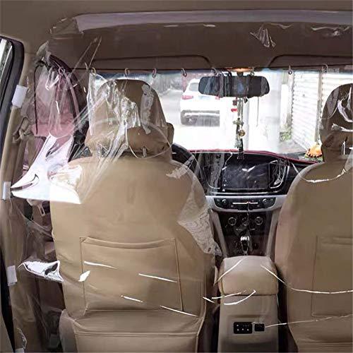 WXYLYF Outdoor Auto Isolation Film Taxifahrer Transparentes Anti-Staub-PVC-Material (1,2 Mx 1,4 M) Vorder- Und Hinterreihe Kunststoff