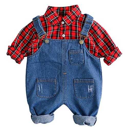 Odziezet Ropa Bebé Recién Nacido Fotografia Pantalones de Petos Vaquero Camisa Primavera...